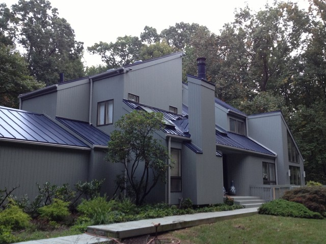Modern home with Metal Roof Towson MD Modern Exterior
