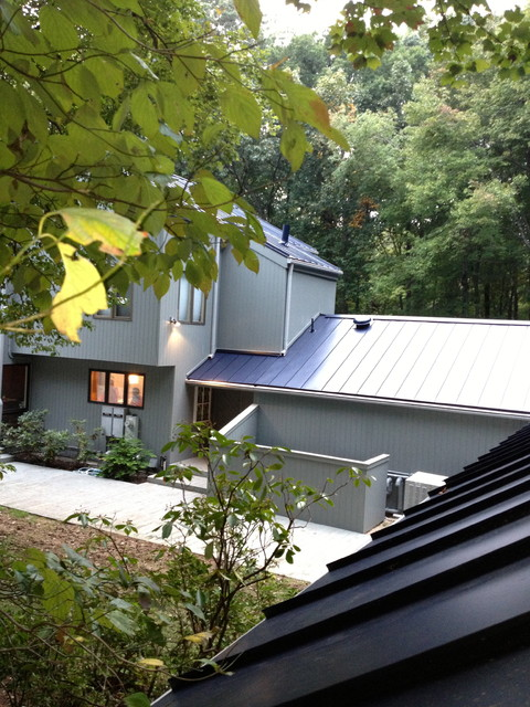 Modern home with Metal Roof Towson MD contemporary-exterior
