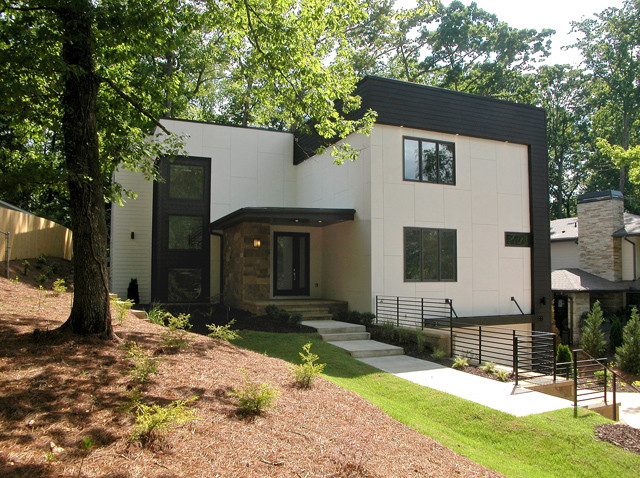 Modern homes modern exterior atlanta by epic Contemporary homes atlanta