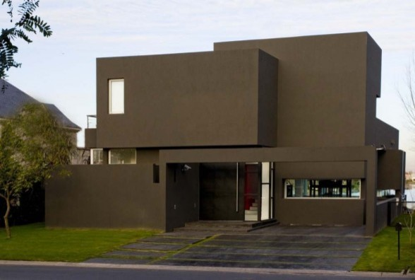 Modern house great color for Exterior modern house paint