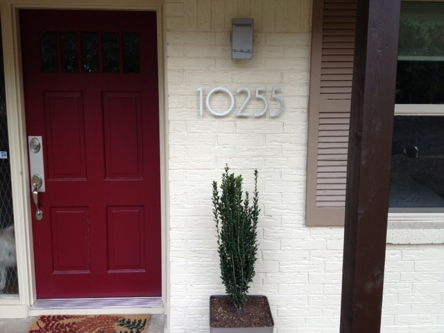 Modern House Numbers Customer Photo Modern Exterior Phoenix By Modern House Numbers