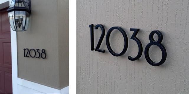 modern house numbers customer photo モダン エクステリア 外観
