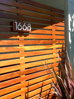 modern house numbers - customer photo