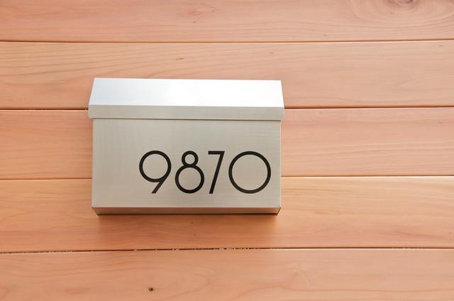 Modern House Numbers Mailbox Modern Exterior Phoenix
