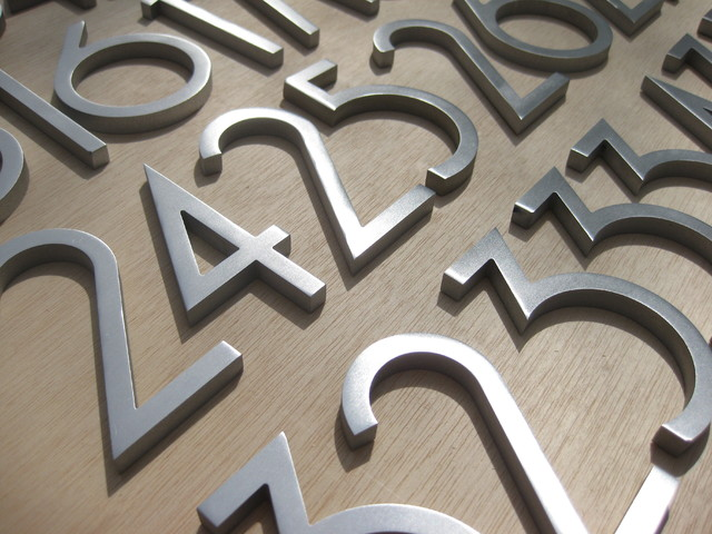 modern house numbers modern exterior phoenix by With exterior letters and numbers