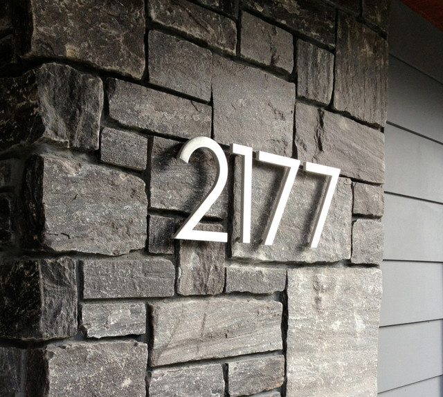 modern house numbers modern exterior phoenix by With exterior house letters