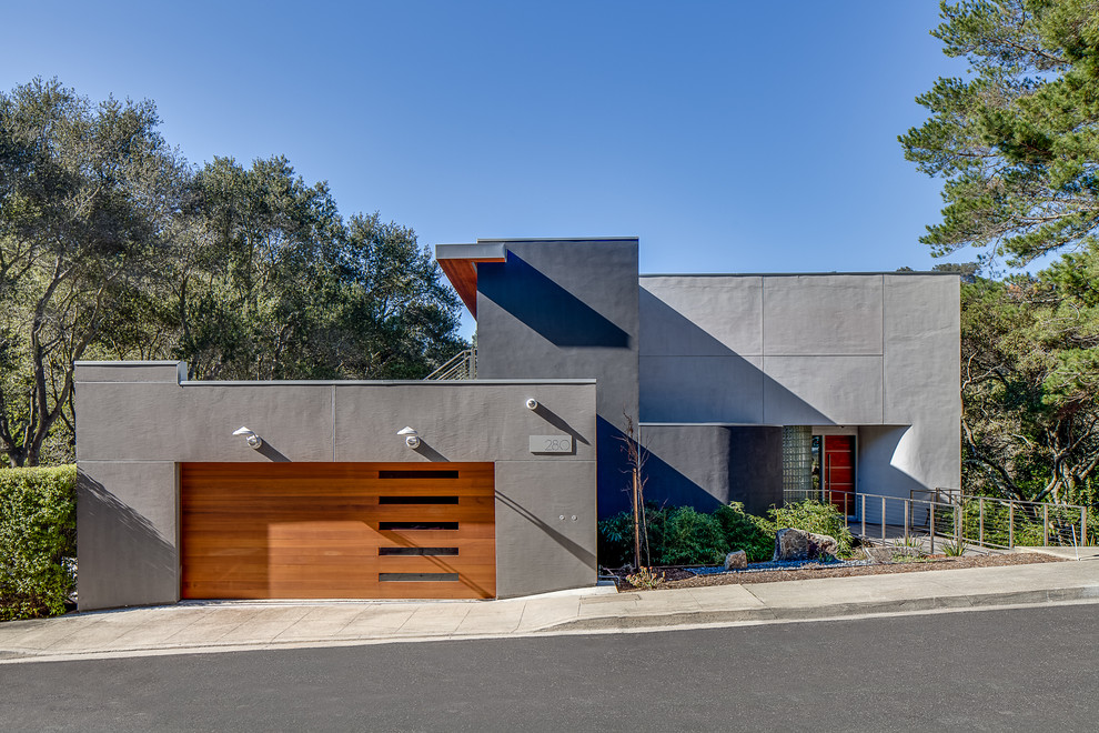 Modern Is Modern Again In Portola Valley Modern Exterior San Francisco By Mark Brand Architecture