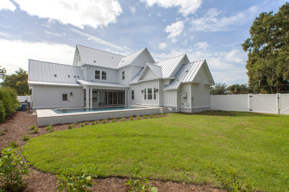 Modern L Shaped Farmhouse 9722 Farmhouse Exterior New York By Better Homes And Gardens House Plans
