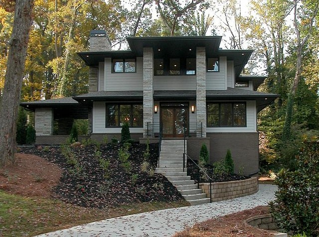 Modern prairie homes atlanta contemporary exterior for Modern prairie