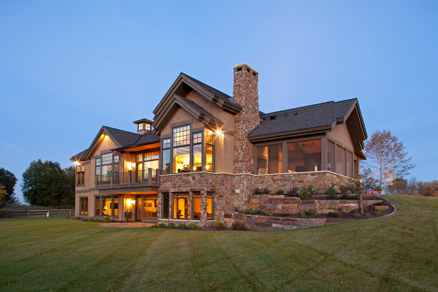 Modern Ranch - Rustic - Exterior - Minneapolis - by Kyle ...