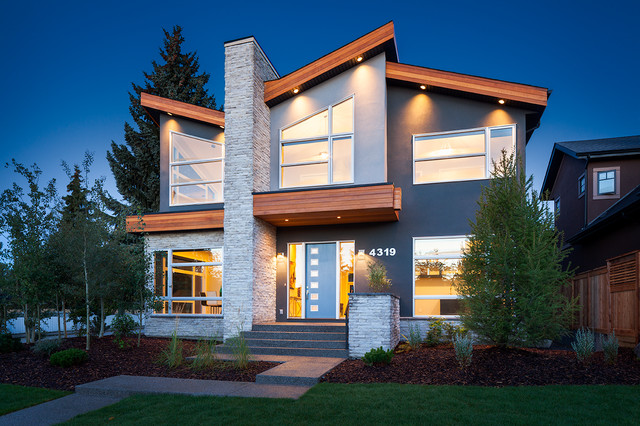 Modern Renovation Inner City Calgary: exterior home renovations calgary