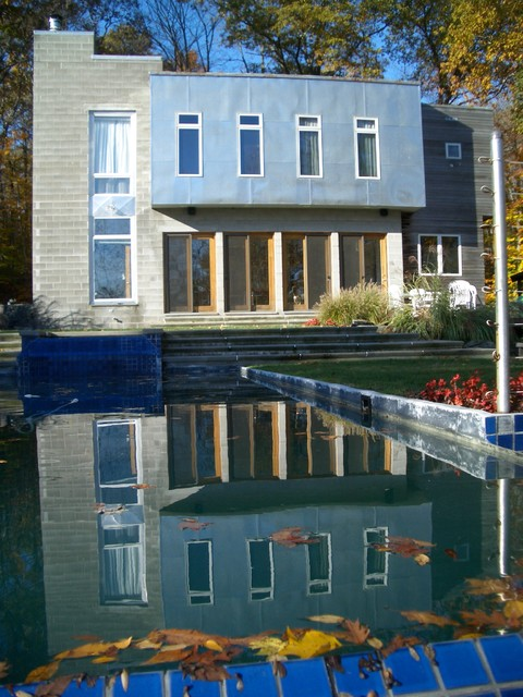Modern residence newtown ct modern exterior new york by academy design and construction llc Kitchen design newtown ct