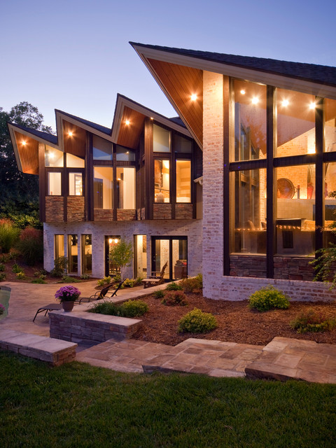 Modern Residence Contemporary Exterior Kansas City
