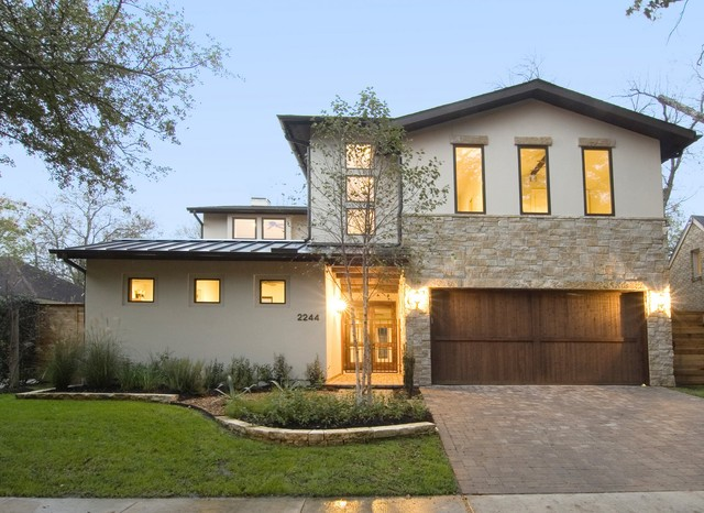 Modern Rustic Home With Casitamodern Exterior Houston