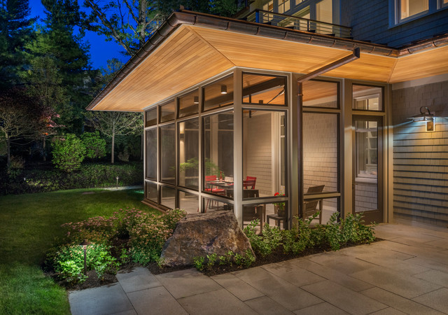 Modern screen porch modern exterior boston by for Modern glass porch designs