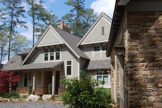 Modern shingle style lake house modern exterior for Modern shingle style