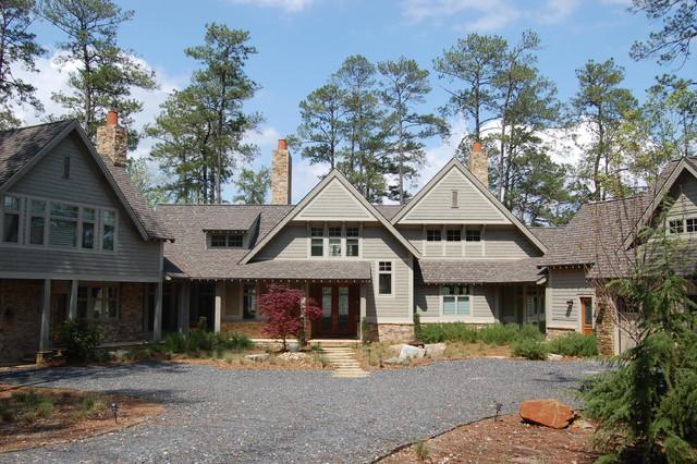 Modern Shingle Style Lake House Traditional Exterior