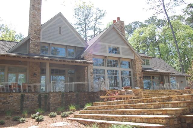 Modern shingle style lake house modern exterior for Modern shingle style architecture