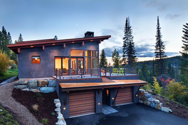 Modern ski chalet rustic exterior other metro by for Ski chalet home designs