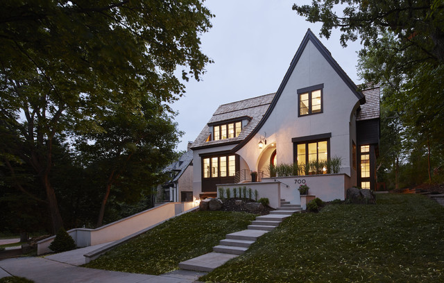 modern tudor - crocus hill - transitional - exterior - minneapolis