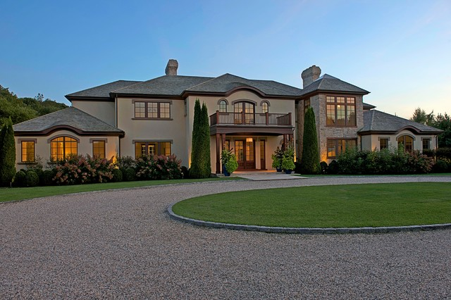Modern tuscan estate traditional exterior new york Estate home designs