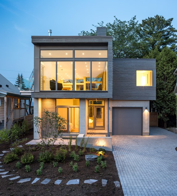 30 Contemporary Home Exterior Design Ideas: Modern Urban Infill
