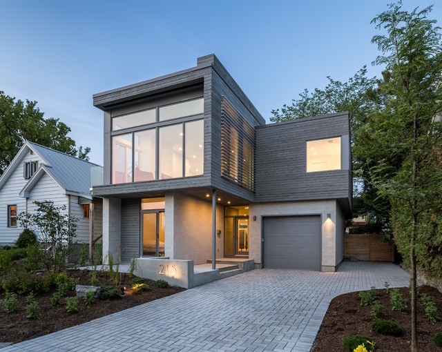 Modern urban infill modern exterior ottawa by for Modern house design ottawa
