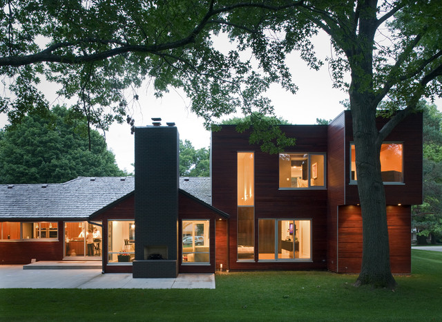 Modern w a side of ranch contemporary exterior