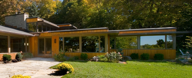 modern whole house renovation exterior midcentury exterior