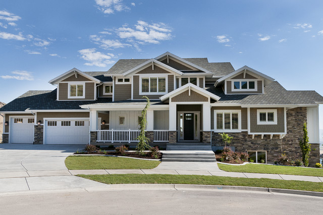Modified telluride craftsman exterior salt lake city by candlelight homes