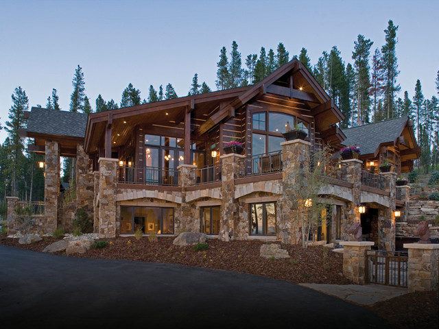 Moffat way rustic exterior denver by terra firma for Luxury rustic homes