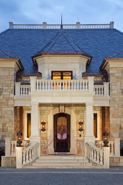 Monaco Inspired Manor Traditional Exterior