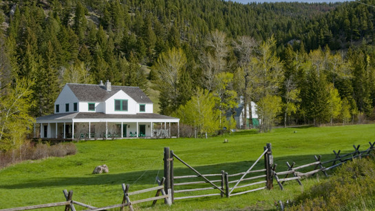 Montana Farmhouse traditional exterior