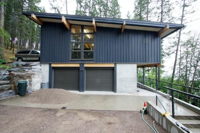 Montana Lake Retreat contemporary-exterior