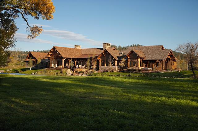 Montana River Residence traditional-exterior