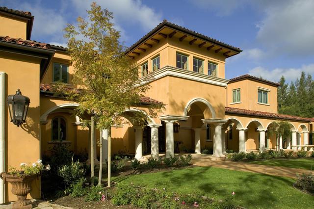 Monte Sereno Tuscan Custom Home Mediterranean Exterior