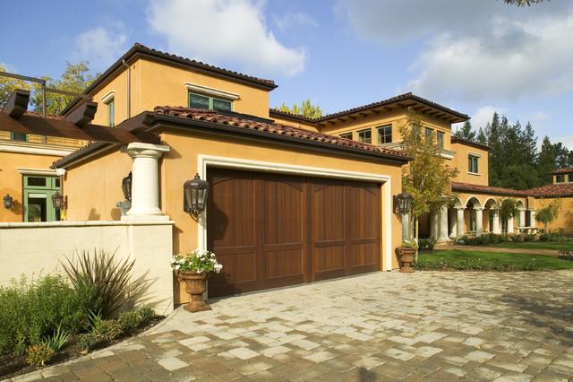 Monte sereno tuscan custom home mediterranean exterior for Tuscan home exterior colors
