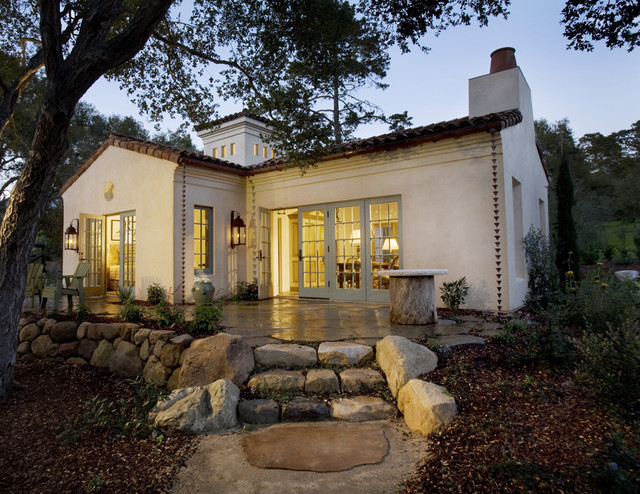 Montecito cottage exterior mediterranean exterior for Tiny house santa barbara