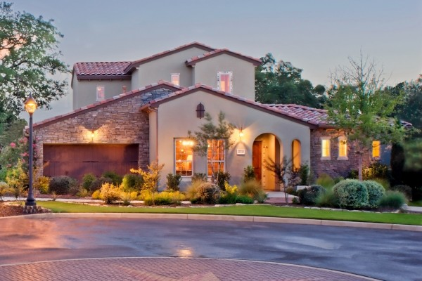 Montieri Model Home in San Antonio mediterranean exterior