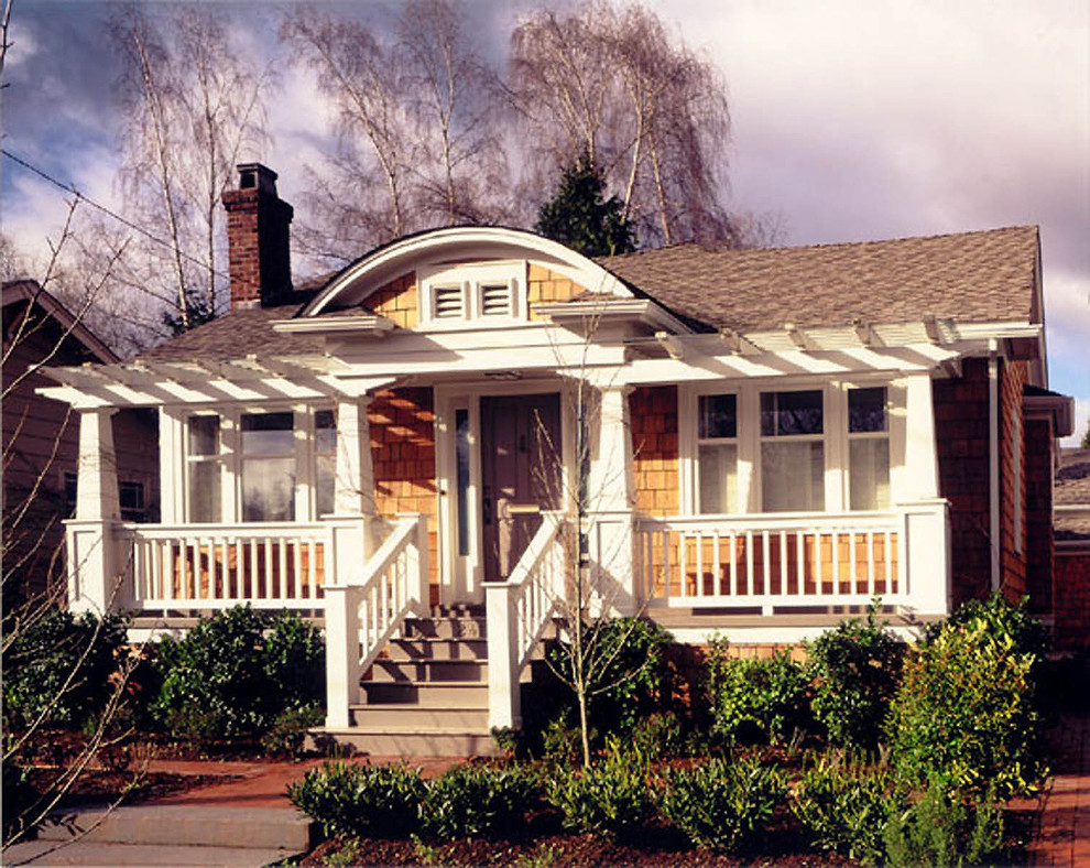 Inspiration for a craftsman exterior home remodel in Seattle