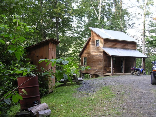 Mountain cabin small space ideas - Traditional - Exterior - charlotte ...