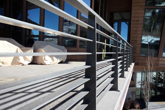 Mountain Contemporary Exterior Horizontal Balustrades