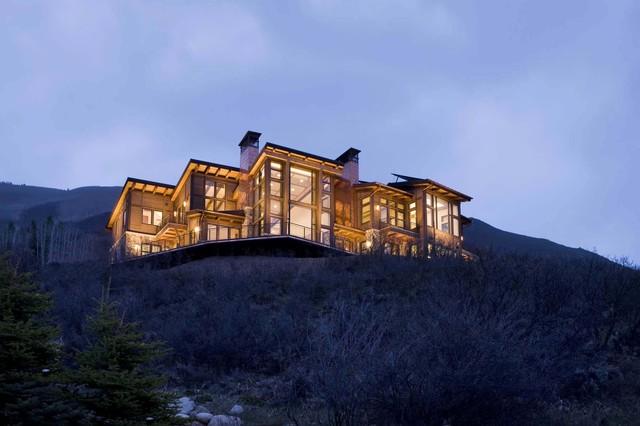 Mountain home contemporary-exterior