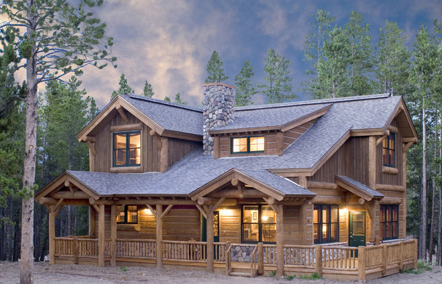 Mountain Home Exteriors Rustic Exterior Denver By