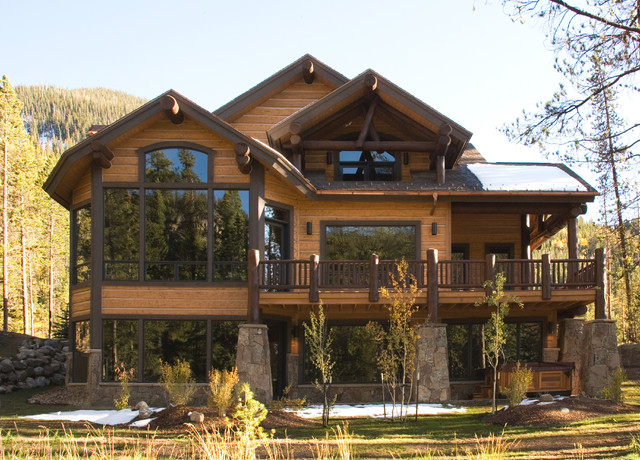 Mountain Home Exteriors Traditional Exterior Other Metro on modern stone homes