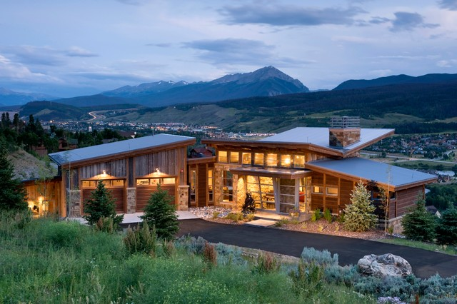 Mountain home exteriors contemporary exterior other for Modern mountain house