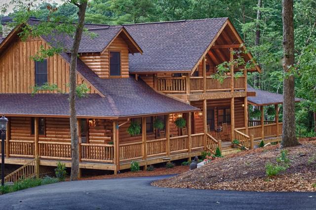 Mountain laurel ellijay ga rustic exterior for House plans atlanta