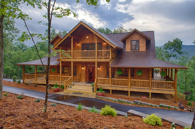 Mountain laurel ellijay ga rustic exterior for Log home pictures exterior