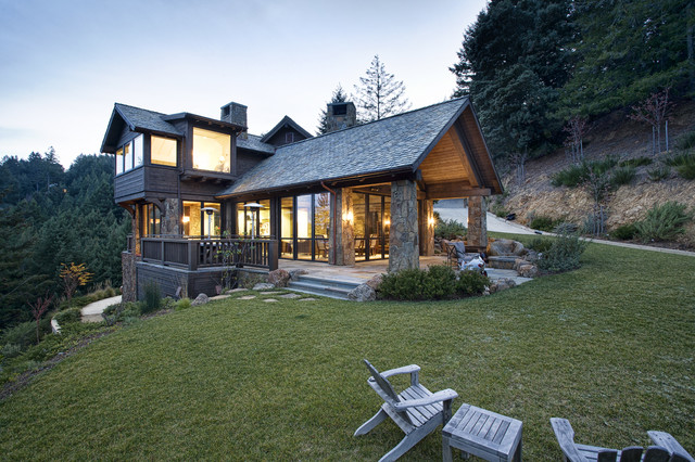 Mountain Lodge Eclectic Rustic Exterior