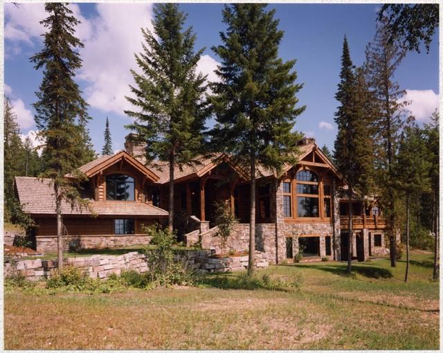 Mountain Lodge rustic-exterior